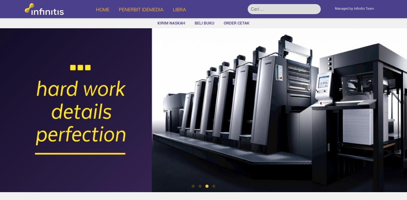 portfolio website profil perusahaan percetakan buku